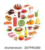 food and drinks collage... | Shutterstock . vector #207990280