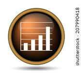 chart bars icon. internet... | Shutterstock . vector #207990418