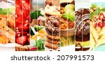 Collage Of Delicious Food Clos...