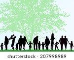 family silhouettes   Shutterstock .eps vector #207998989