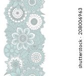 hand drawn floral background   Shutterstock .eps vector #208006963