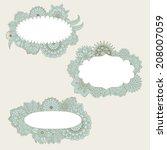 hand drawn floral frames   Shutterstock .eps vector #208007059