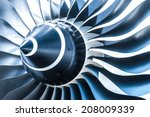 Blue Tone Jet Engine Blades...
