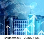 skyscrapers with background of... | Shutterstock . vector #208024438