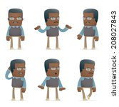 set of teacher character in... | Shutterstock .eps vector #208027843