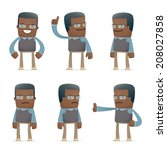 set of teacher character in different interactive  poses