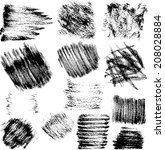 vector set of grunge ink spots  ... | Shutterstock .eps vector #208028884
