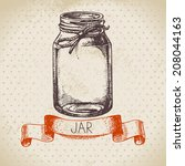 rustic  mason and canning jar....   Shutterstock .eps vector #208044163