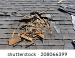 roof construction site. removal ... | Shutterstock . vector #208066399