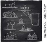 Chalk Banquet Food Symbols On ...