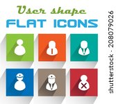 vector application user icons...