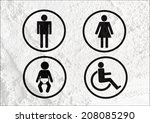 restroom icon and pictogram man ... | Shutterstock . vector #208085290