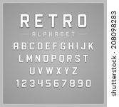 retro alphabet font. type... | Shutterstock .eps vector #208098283