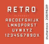 retro alphabet font. type... | Shutterstock .eps vector #208098289