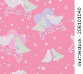 pigeons  hearts  wedding...   Shutterstock .eps vector #208101040