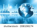 best internet concept of global ... | Shutterstock . vector #208108174