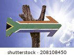 south africa wooden sign on a... | Shutterstock . vector #208108450