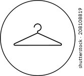 wire clothes hanger symbol | Shutterstock .eps vector #208108819