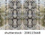 snake skin   reptile  | Shutterstock . vector #208115668