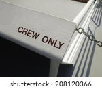 Small photo of Line of demarcation for passenger safety on top deck of cruise ship