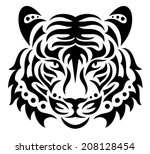 head of a tiger.  | Shutterstock .eps vector #208128454