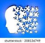 Stock photo brain puzzle design 208136749