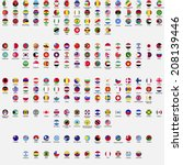 circle flags of the world  all... | Shutterstock .eps vector #208139446