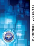 technology compass illustration ...   Shutterstock . vector #208157566