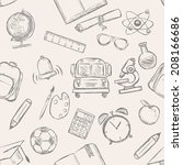 vector seamless pattern of... | Shutterstock .eps vector #208166686