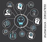 idea  creative thinking concept ... | Shutterstock .eps vector #208167850
