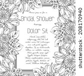 wedding invitation cards with... | Shutterstock .eps vector #208170940