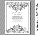 wedding invitation cards with... | Shutterstock .eps vector #208171324