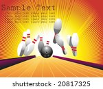 ten pins  bowling  vector... | Shutterstock .eps vector #20817325