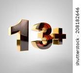 3d golden number    13 | Shutterstock . vector #208182646