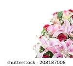 beautiful bouquet of bright... | Shutterstock . vector #208187008