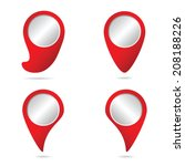 map pointer in red color vector ... | Shutterstock .eps vector #208188226