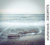 Minimalist Misty Seascape With...