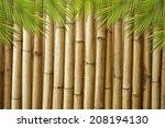 Betel Leaves Frame On Bamboo...