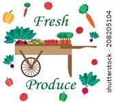Farmer's Market Vegetable Cart.