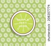creative lemon food packaging... | Shutterstock .eps vector #208207774