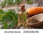the essential oil of carrot... | Shutterstock . vector #208208248
