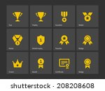 trophy and awards icons. vector ...
