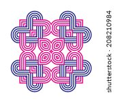 contemporary celtic knot doily... | Shutterstock .eps vector #208210984