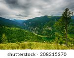 beautiful mountain landscape... | Shutterstock . vector #208215370