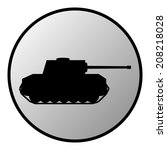 panzer button on white... | Shutterstock .eps vector #208218028