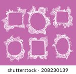 set picture frames  hand drawn ... | Shutterstock .eps vector #208230139