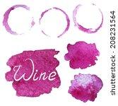 set of vector watercolor... | Shutterstock .eps vector #208231564