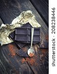 Closeup Of Dark Chocolate And...