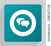 flat conversation icon  white...
