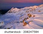 sunset light casts purple color ... | Shutterstock . vector #208247584